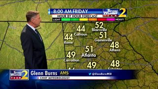 Temperatures to climb to the upper 70s by Friday afternoon