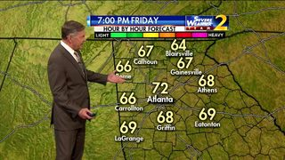 Clear skies, temperatures in mid to upper 60s for Friday evening