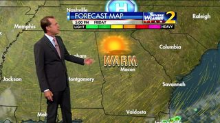 Mostly sunny for your Friday morning