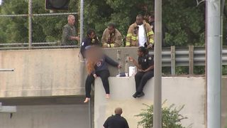 Officer describes moment she saved woman from jumping off overpass