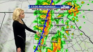 Heavy rain expected on your Monday morning commute