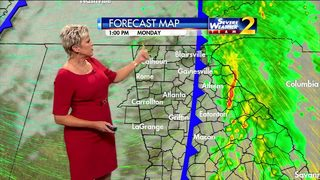 Rain, storms possible Monday afternoon