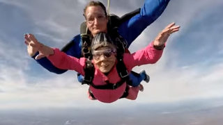 94-year-old woman goes skydiving to celebrate birthday