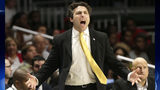 Georgia Tech coach Josh Pastner gestures during the second half of the team's NCAA college basketball game against Miami, Wednesday, Feb. 15, 2017, in Coral Gables, Fla. Miami defeated Georgia Tech 70-61. (AP Photo/Lynne Sladky)