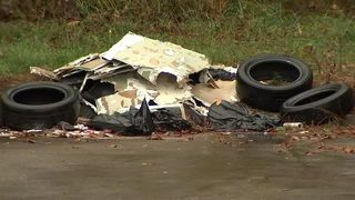 Neighbors fed up with illegal tire dumping in Fulton County subdivision