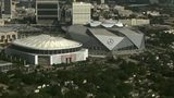 Check out the view of the Georgia Dome and Mercedes-Benz Stadium from NewsChopper 2.