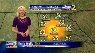 Plenty of sunshine, temperatures in the 60s early Thursday evening