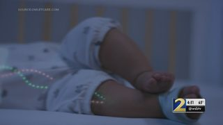 This high-tech sock doubles as a baby monitor