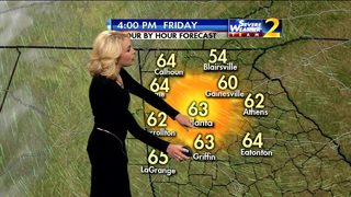 Mostly sunny, temperatures in low 60s for Friday afternoon