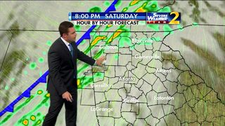 Warmer temperatures for your Saturday afternoon