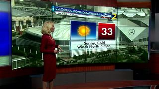 Seasonably cool morning expected for the Georgia Dome implosion