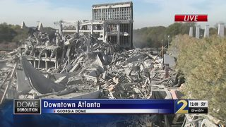 Demolition leaders give update on remaining piece of Georgia Dome
