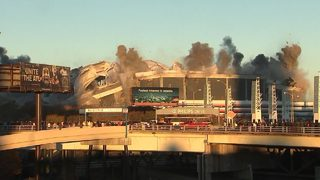 Out with a bang: Georgia Dome comes down in Atlanta