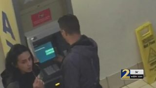 Police say video shows duo installing skimmer on mall ATM