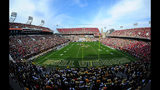 A general view of Bobby Dodd Stadium during the game between the Georgia Tech Yellow Jackets and the Georgia Bulldogs on November 28, 2015 in Atlanta, Georgia.