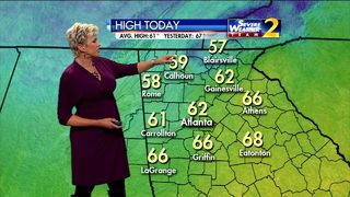 Mostly sunny, temperatures climb to low 60s Wednesday afternoon