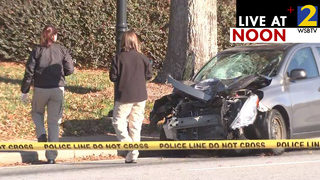 Person killed after woman drives onto sidewalk on busy road, police say