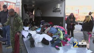 Family delivers warm clothes and goods to Atlanta