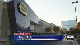 Customers rush to the stores for Black Friday