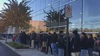 Customers brave long lines as holiday shopping kicks off