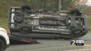 Van carrying Emory track and field team flips twice in wreck