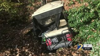 Golf carts stolen from elderly residents damaged after being dumped in pond