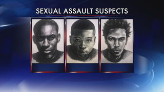 Police search for men accused of sexually assaulting woman leaving gas station