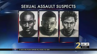 Police search for sexual assault suspects