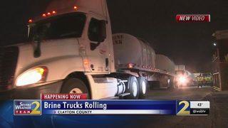 Brine crews hit the road to treat highways ahead of wintry weather