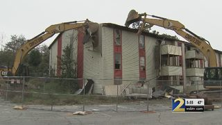 Crews tear down apartment complex known for terrible living conditions
