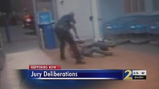 Jury deliberates case of retired officer accused of beating man inside local Walmart