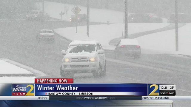 ATLANTA SNOW: Minute-by-Minute look at metro Atlanta's wintry