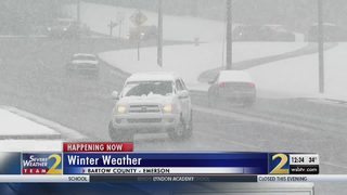 Bartow County students react to snowfall