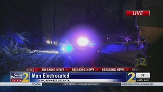 Man killed by downed power line, firefighters say