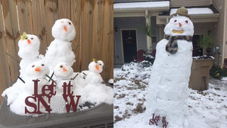 PHOTOS: Snowmen pop up across metro