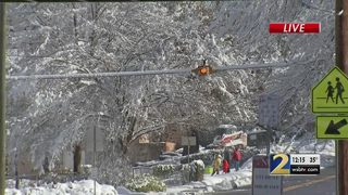 Crews working to clean up after snow in Cobb County