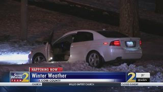 Icy roads cause accidents across Cobb County