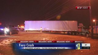 1 dead in fiery crash with tractor-trailer