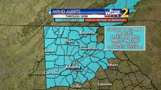 Metro Atlanta under wind advisory; threat high for downed trees