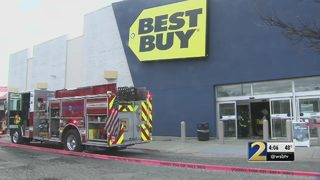 Woman describes chaos as fire burns inside local Best Buy store