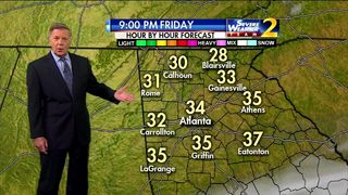 Temps falling to near freezing Friday evening