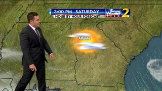 Mix of clouds and sunshine for your Saturday afternoon