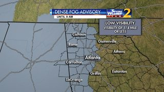 Dense Fog Advisory of much of metro Atlanta
