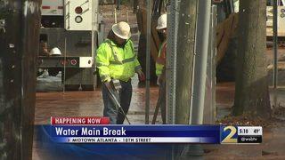 Water main break leaves homes without water in Midtown Atlanta