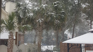 Southern, coastal Georgia receive several inches of snow