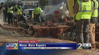 Crews respond to nearly 20 water main breaks in 48 hours