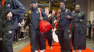 Georgia Bulldogs arrive in Atlanta for National Championship!