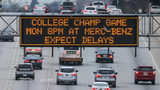 Traffic alert for the National Championship