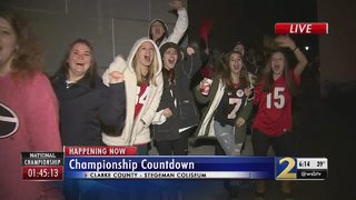 UGA students turn Athens into a party on National Championship day