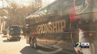 UGA football team returns to Athens after devastating loss in championship